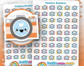 54 Cute Camera/Photography Stickers, Filofax, Erin Condren, Happy Planner,  Kawaii, Cute Sticker, UK