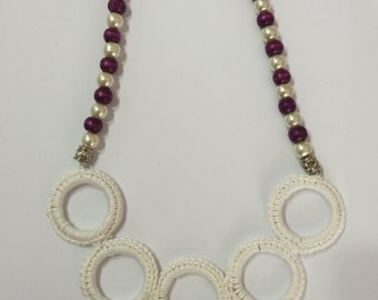 crochet rings necklace