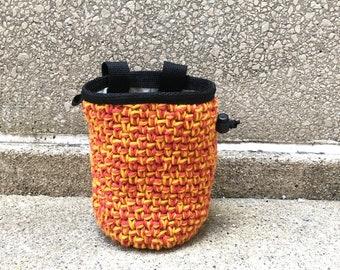 chalkbag, chalk bag, rock climbing, crochet chalkbag, crochet chalk bag, climbers, climbing gifts, rock climbers