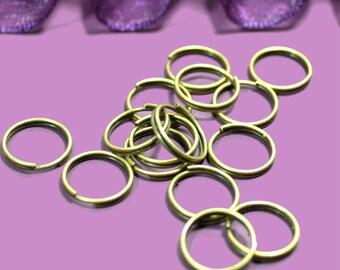 Double 10mm bronze rings