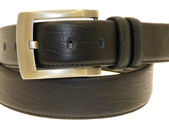 Men's Quality Black Leather Belt In Gift Box (Style No.6002).