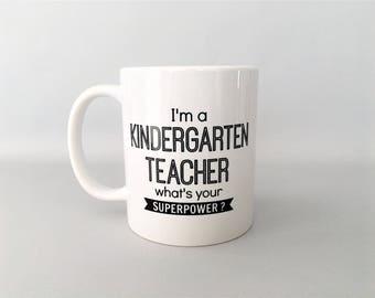 Teacher Mug, Teacher Mugs, Kindergarten Teacher Mug, Kindergarten Mugs, Teacher Gifts, Teacher Thank you, Graduation Gift, Graduation