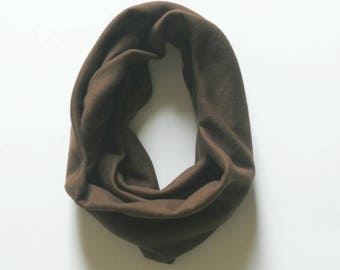 Brown Toddler Infinity Scarf, Child Infinity Scarf, Kid Infinity Scarf, Loop Scarf, Tube Scarf, Circle Scarf, Drool Scarf Bib