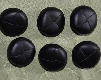 set of 6 fancy black buttons