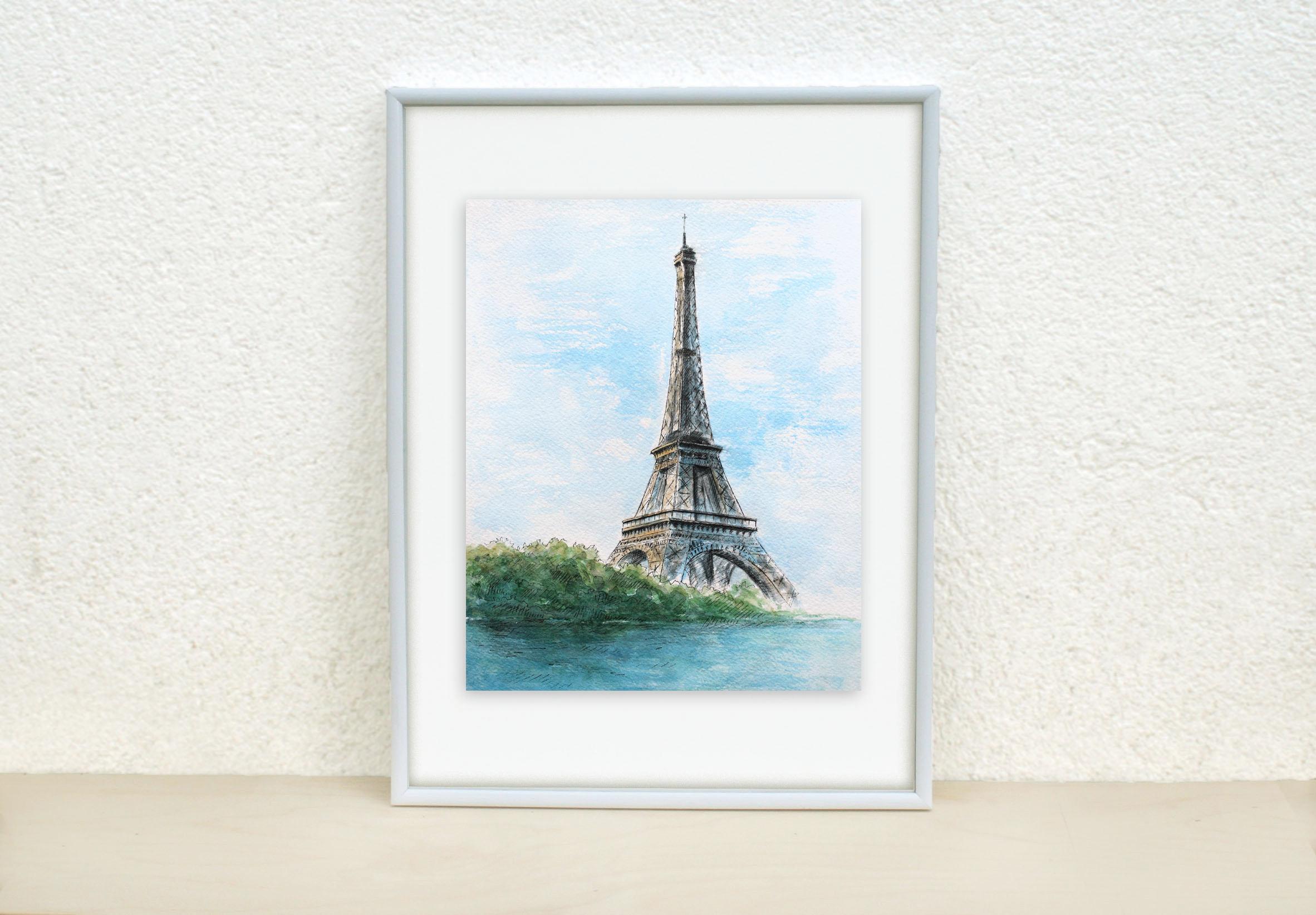 Eiffel tower painting eiffel sketch paris painting paris zoom jeuxipadfo Images