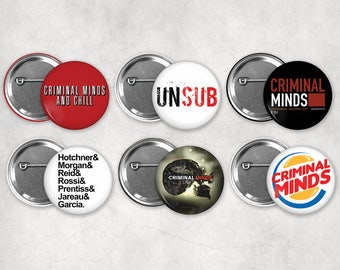 1.25in Criminal Minds Buttons