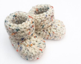 Crocheted baby booties, rainbow baby gift, crochet baby shoes, new baby gift, baby shower gift, newborn baby shoes, photo shoot prop