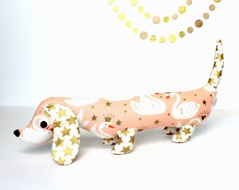 Wiener Dog Toy, Plush Dachshund, Weiner Dog Stuffie, Unique Girls Gift ESTELLA