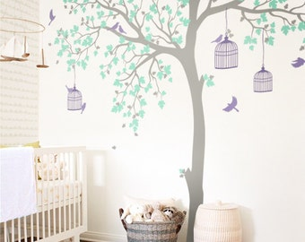 Large tree decal Huge Tree wall decal Wall Art Tattoo Wall Mural Stickers Wall Decals Decor  -NT012