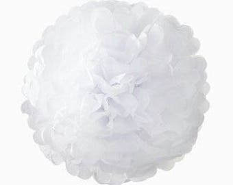 Decadent Decs White PomPoms