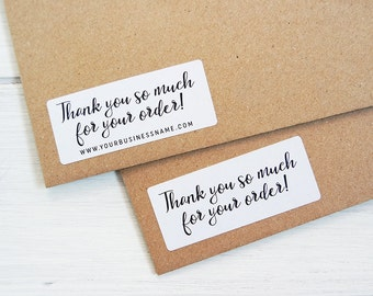 30 Thank You For Your Order Stickers Business Shop Seller Packaging Package Labels Custom Personalized / 255