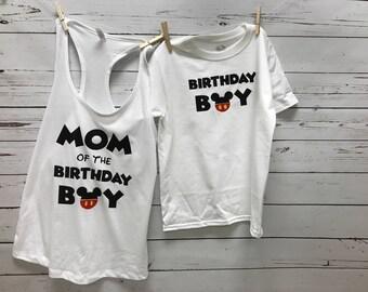 Mickey Birthday Boy, Birthday Boy, Mickey Birthday Top, Mickey Shirt, Birthday Boy Shirt, Mickey Mouse Shirt, Mickey Shirt, tops, boy