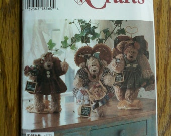 """Sewing Pattern for 12"""" Bears with Clothing"""