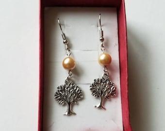 Tree of life earrings, Tree of life jewelry.