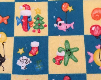 Christmas Flannel Fabric-Fishes