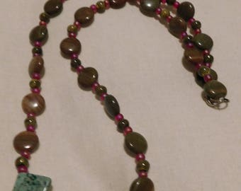handmade necklace using jasper