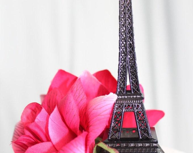 Featured listing image: Black Paris Eiffel Tower Cake Topper, Wedding, Sweet 16, Photo Prop, Centerpiece, Parisina Decoration, overthetopcaketopper