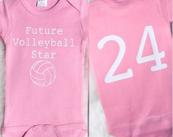 Future Volleyball Star, Baby girl onesie, baby girl bodysuit, volleyball onesie, baby shower gift, baby shower, coming home outfit, onesie