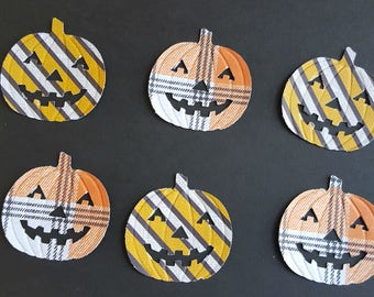 50  plaid pumpkins, Halloween decorations, Halloween Party, Fall decorations, Trick or Treat, Pumpkin decorations, Autumn decorations