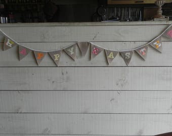 Happy Easter fabric flag Garland