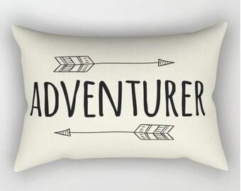 Adventurer Pillow - Arrow - Woodland Nursery Decor - Custom - Baby Shower Gift - Gender Neutral