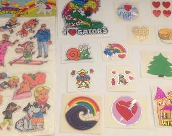 Big Lot Of Vintage 1980s 80s Stickers #17