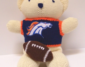Bear, Denver Broncos Bear, Baby Boy Bear, Baby Shower Gift, Birthday Gift, Keepsake Bear, Souvenir Bear, Valentine's Day