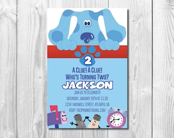 Blues Clues Birthday Party Invitation >> Blues Clues Birthday Invite  << Second Birthday >> Custom Printable Digital File