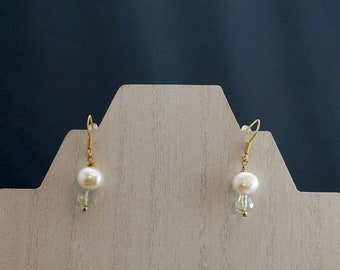 Freshwater Pearl and Green Amethyst Earrings
