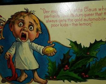 1926 Unused Humorous Cartoon Christmas Postcard