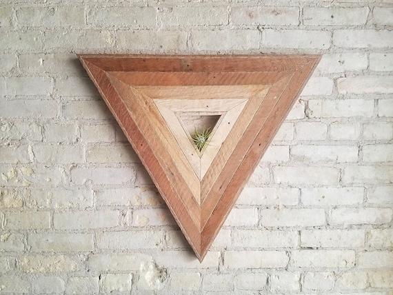 Reclaimed Wood Wall Art | Wood Decor | Reclaimed Wood | Wood Art | Rustic Geometric | Wood Decor | Handmade |  Triangle Gradient | Modern