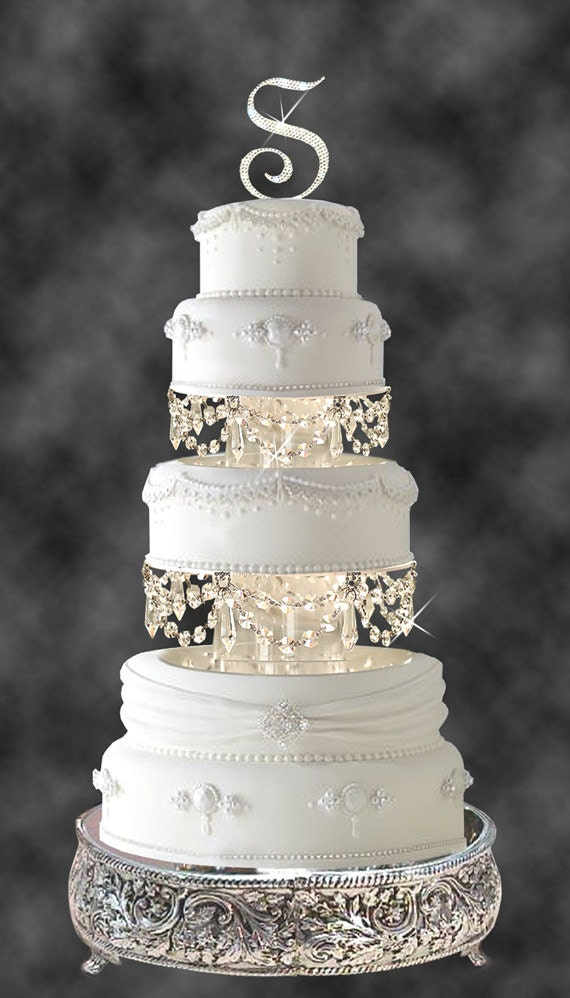 & Swarovski and Rhinestone Crystal Chandelier Wedding Cake Tier