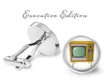 Vintage Television Cufflinks - Classic TV Cuff Links - Retro TV Cufflinks (Pair) Lifetime Guarantee (S0426)