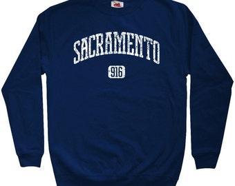Sacramento 916 Sweatshirt - Men S M L XL 2x 3x - Crewneck Sacramento Shirt - Sac Town California - 4 Colors