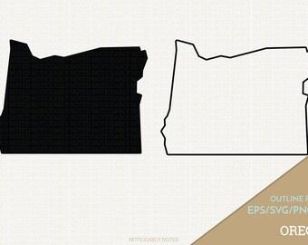 Oregon Vector, State Clipart, OR Clip Art, Oregon SVG, State PNG  (Design 13720)
