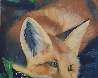 Foxes  Original Oil painting handmade