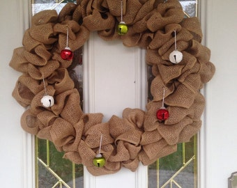Burlap Bell Wreath