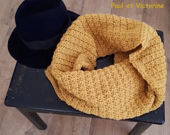 Crochet scarf * YELLOW WINTER *.