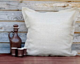 Grey Linen Pillow Cover, Throw Pillow 16x16 inch, Decorative Pillow, 100% Pure linen Shams, Handmade Customizable Cushion