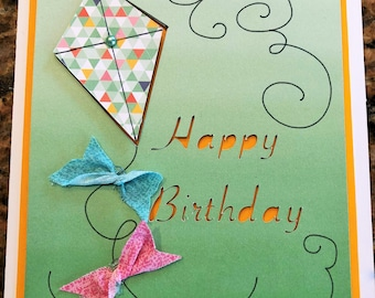 Handmade Happy Birthday Kite Card for kids of all ages!
