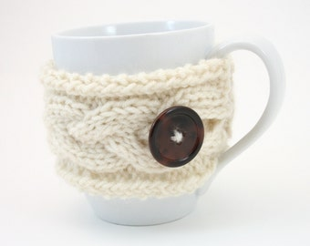 PDF DIGITAL PATTERN:Mug Cozy Pattern, Knit Mug Cosy Pattern, Coffee Mug Cozy Pattern, Tea Mug Cozy Pattern, Cream Mug Cosy Knitting Pattern