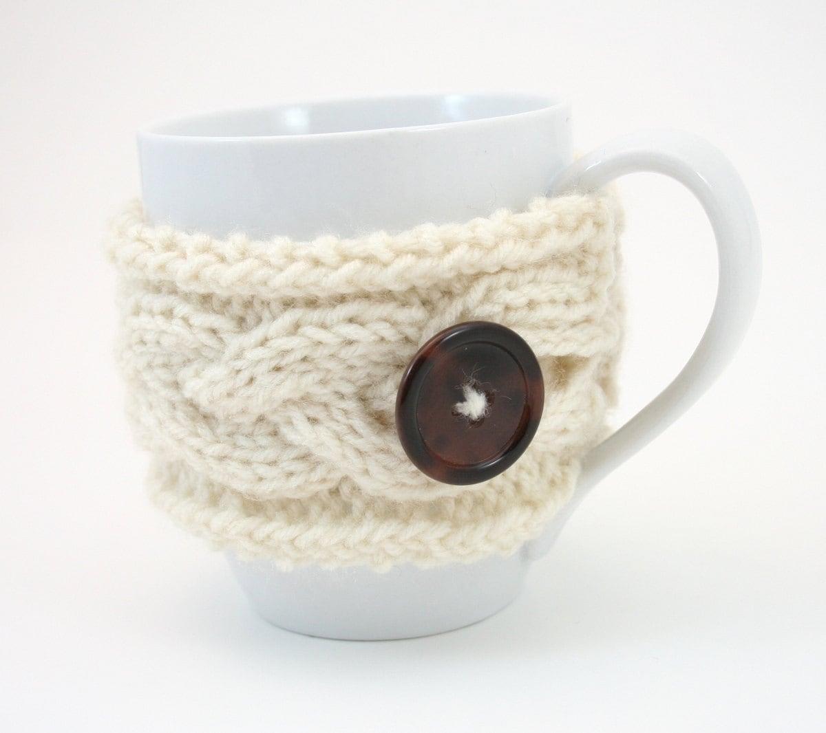 PDF DIGITAL PATTERN:Mug Cozy Pattern, Knit Mug Cosy Pattern, Coffee ...