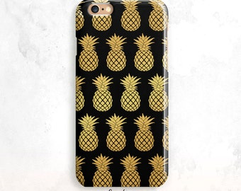 iPhone 6S Case, Gold Pineapples iPhone 7 Case, iPhone SE Case, Gold iPhone 6 Plus, iPhone 5S Case, Pineapples iPhone 7 Case, Gold iPhone 6