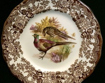 "FREE SHIPPING-The Royal Worcester Group-Palissy-England-Est. 1853-Game Series-Birds-Pheasant-8""-Dessert/Salad Plate"