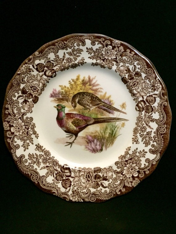 """FREE SHIPPING-The Royal Worcester Group-Palissy-England-Est. 1853-Game Series-Birds-Pheasant-8""""-Dessert/Salad Plate"""
