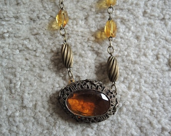 Vintage Topaz color Fashion Accessory from the 1950's You won't be disappointed, Exquisite !