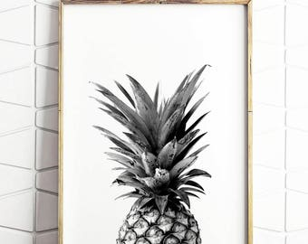 Ananas, impression numérique instantanée Art INSTANT DOWNLOAD Printable Wall Decor