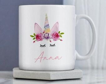 Unicorn Gift | Gift for Her |  Personalised Unicorn Present | Unicorn Mug | Personalised Unicorn Mug | Personalised Mug| Custom Unicorn Gift