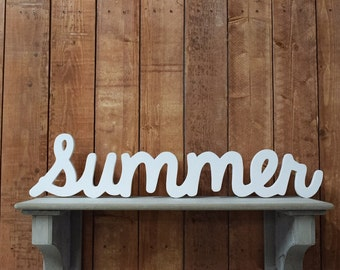 Wooden Baby Name Sign - Summer - Wooden name signs for nursery decor or baby shower gifts