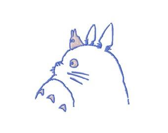 Totoro Embroidery Design Totoro Machine Embroidery Pattern Totoro Pattern Totoro Applique Totoro Design Sewing Craft My Neighbor Totoro Blue